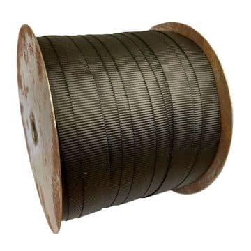175 metres x 20mm BLACK POLYPROPYLENE WEBBING straps lashings belt lead
